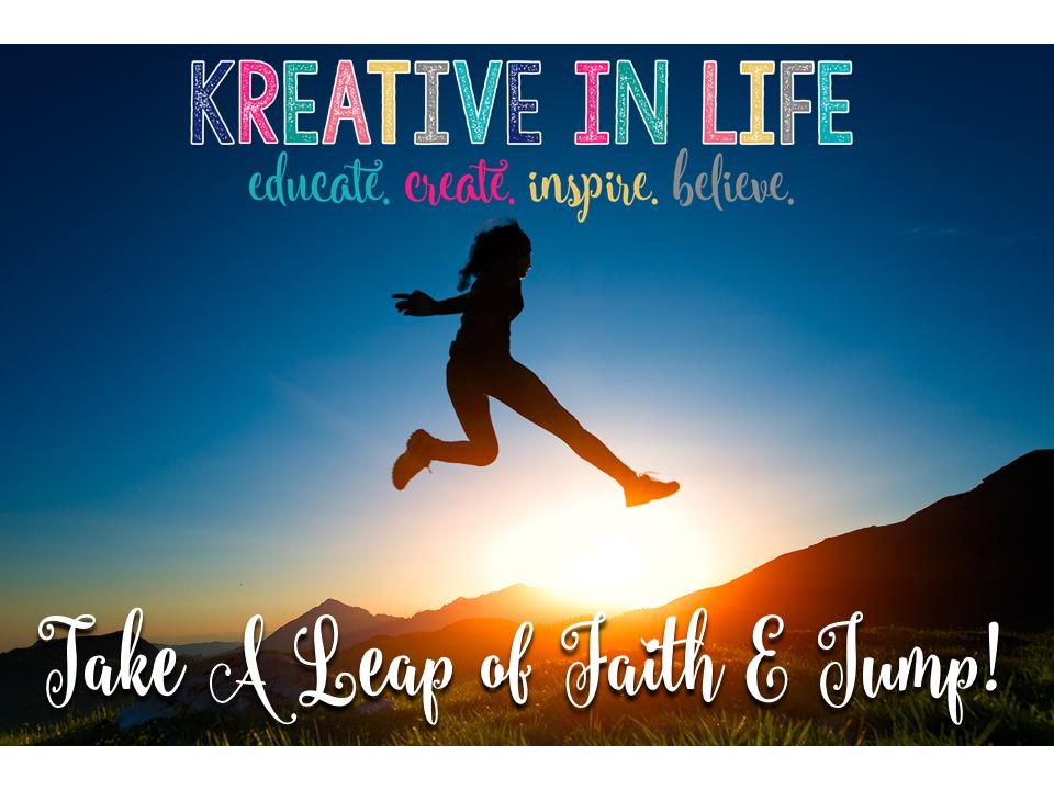Leap of Faith…Just JUMP!