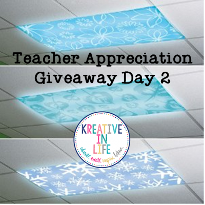 Teacher Appreciation Giveaway Day TWO!