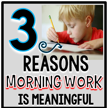 3 Reasons Morning Work Is Meaningful