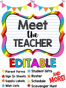 preparing for meet the teacher kreative in life
