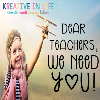 Dear Teachers, We need YOU!