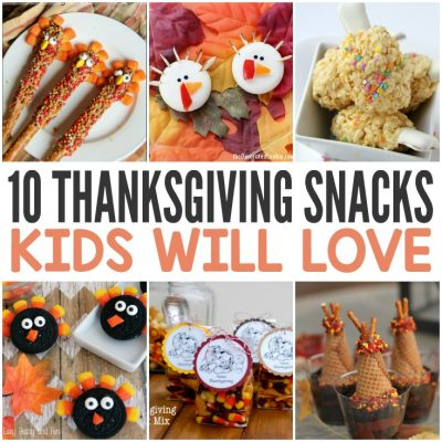 10 Thanksgiving snacks kids will love