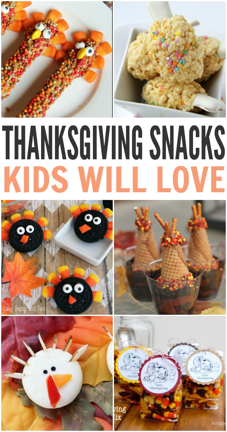 I love to make fun food for my kids during holidays and I decided to compile a list of some of my favorite fun Thanksgiving snacks for kids. Most of them are easy to make and many of .