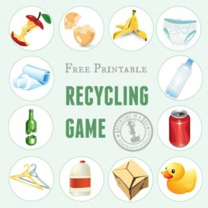 Printable Recycling Game