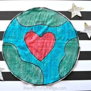 Newspaper Earth Day Craft