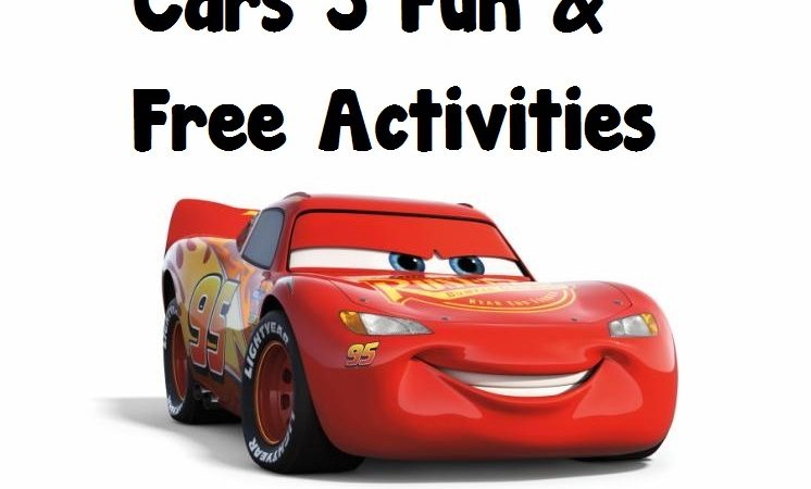 Cars 3 Family Fun Freebies