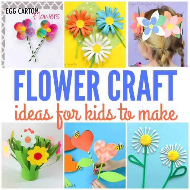 Cute Flower Crafts for Kids