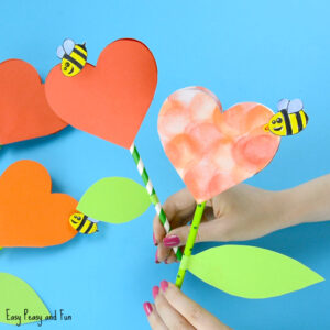 Paper-Heart-Flower-Craft-for-Kids