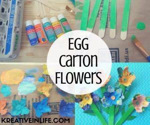 Egg Carton Flowers