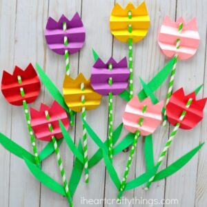 paper-straw-tulip-craft