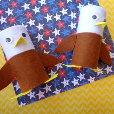 FREE July Coloring Book & Eagle Craft