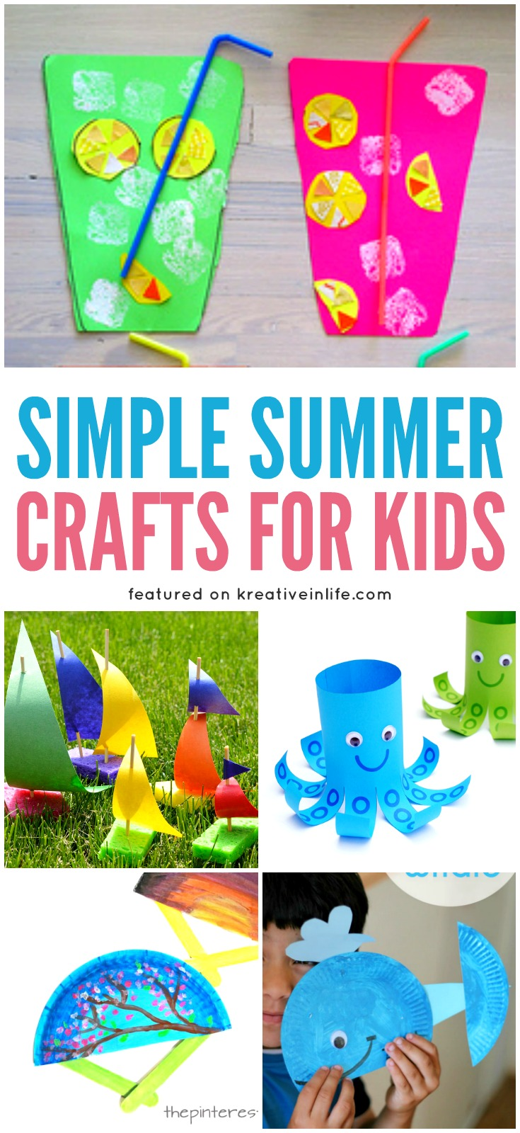 Simple Summer Crafts For Kids Kreative In Life