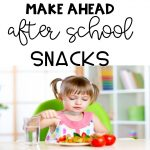 Make Ahead After School Snacks