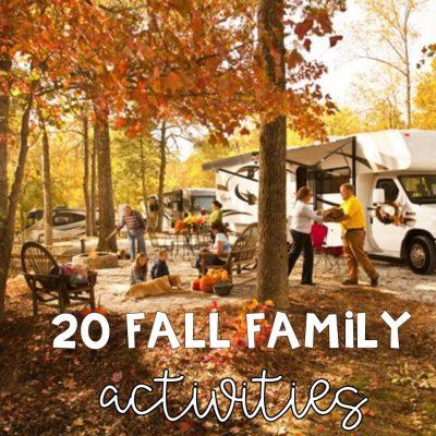 Twenty Family Fun Fall Activities