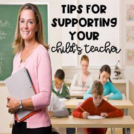 Twenty Tips To Support Your Child's Teacher