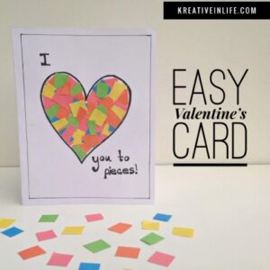 Easy and Fun Valentines Card Craft That Anyone Would Love