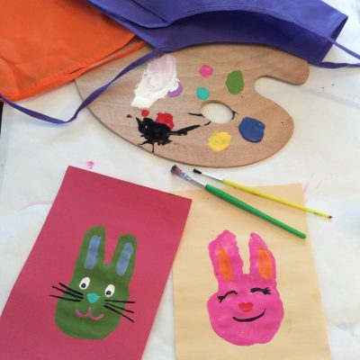 Easter Bunny Handprint Painting Craft