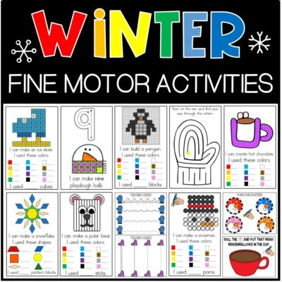 Winter Fine Motor Activities For Young Learners