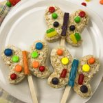 Spring Butterfly Rice Krispy Treat Snack