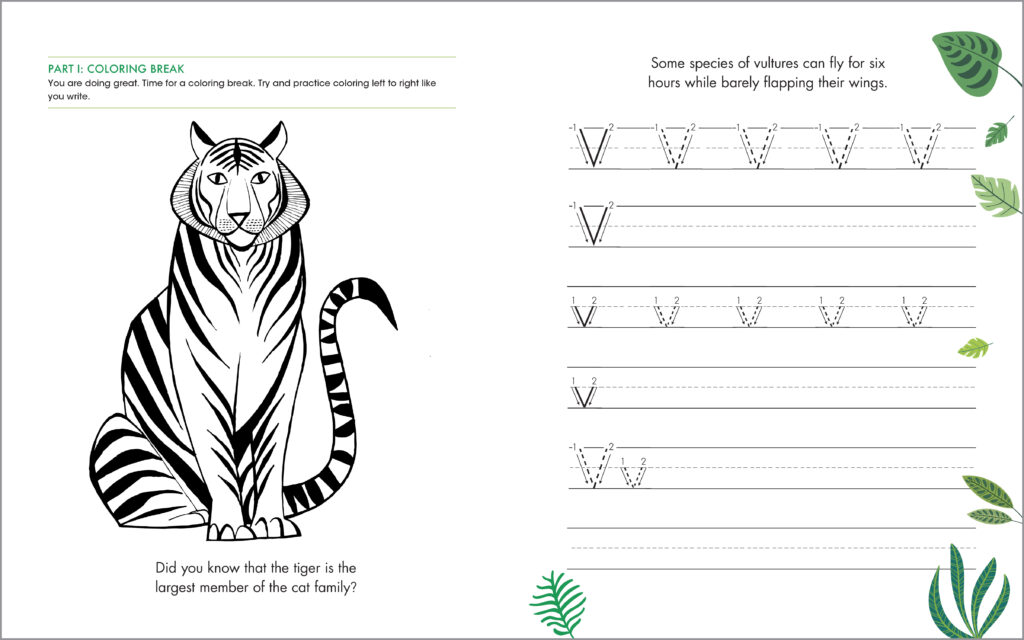 handwriting animal facts