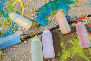 empty chalk paint