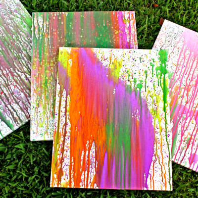 Splatter Painting With Kids
