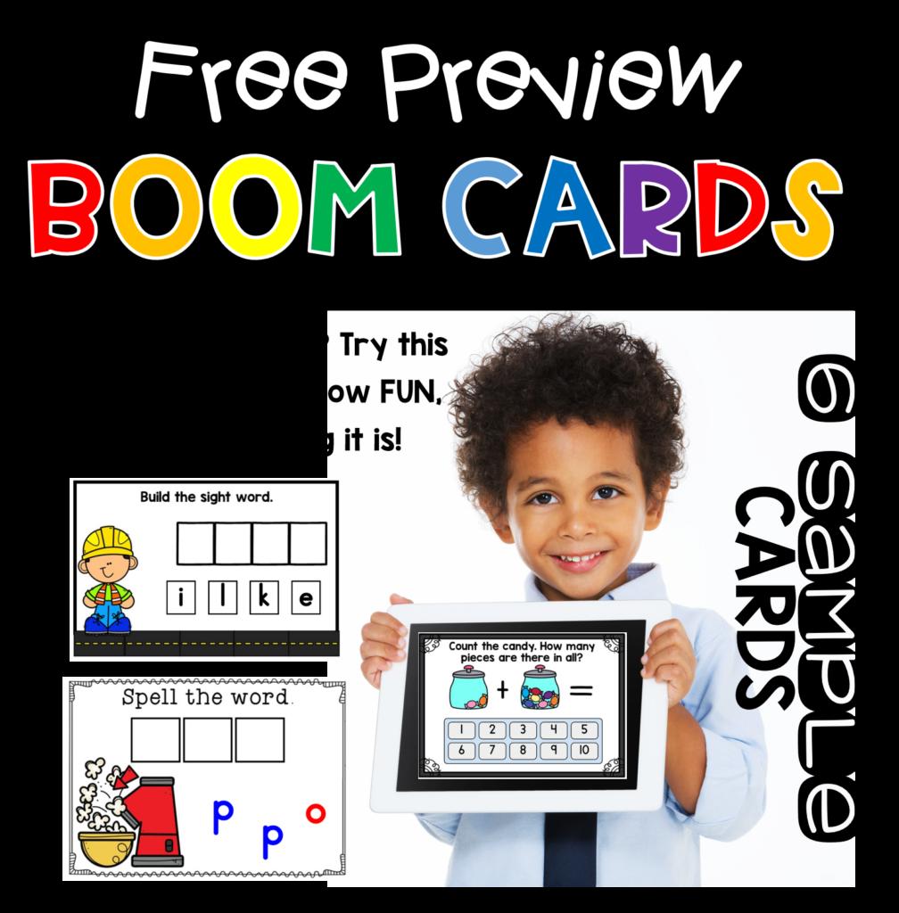Kindergarten boom cards