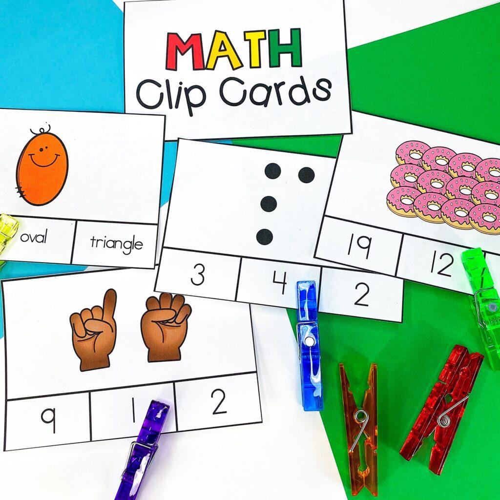 Teaching Number Senses: Clip Cards