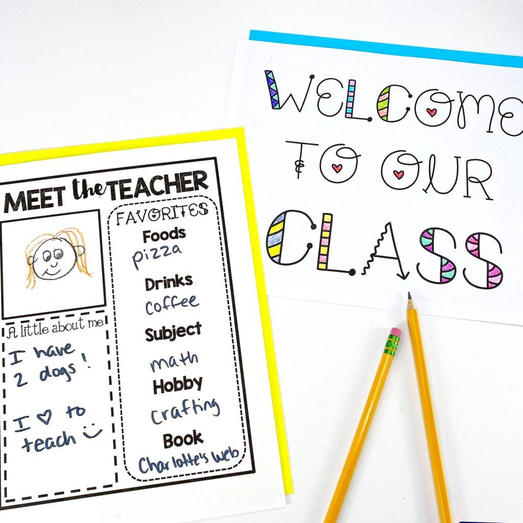 Meet the Teacher Welcome