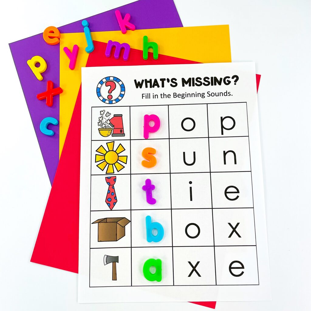 Teaching Beginning Sounds: Magnetic Letters